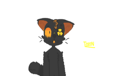 doodle of my OC Toxin uwu by cloudytrash