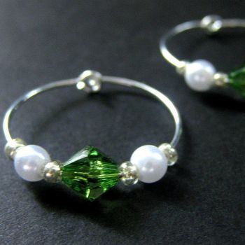 Andrea - Hoop Earrings by Gilliauna