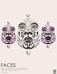 Faces Poster by tala8