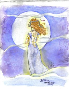 Moon Maiden NFCA painting by SwDreamWvr