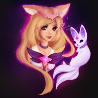 Star Guardian Ahri [League Of Legends] by HalloweenHarpy