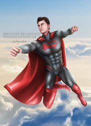 Superman (Zal-El) - Commission by LadyKraken