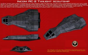 Incom RC-2 Twilight scoutship ortho [New] by unusualsuspex