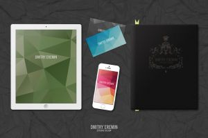 MockUp Ipad Iphone Book Businesscard by dimkoops