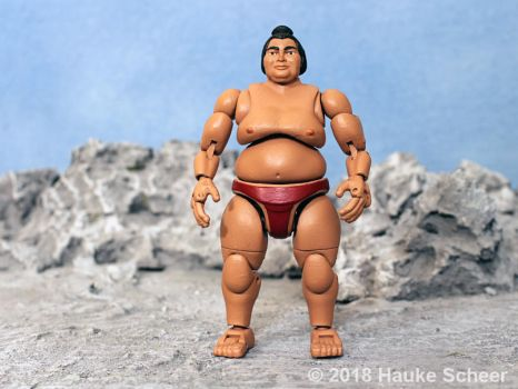 3D printed Sumo action figure pose A by hauke3000