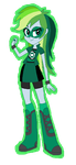 EQ Rainbow Dash dressed as DCoU Green Lantern by TheWalrusclown