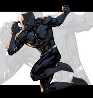 Fighting Black Panther Color by logicfun