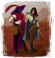 Entreri and Jarlaxle by WhiteElzora