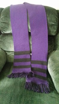 Violet and Black Striped Scarf by Anime-Apothecary