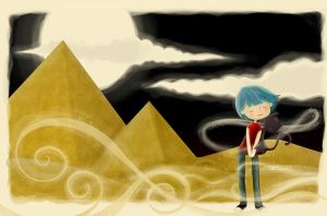 commission . egyptian love by cocinando-colores