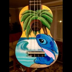 Hand Painted Stitch Ukulele  by felixbrownslc