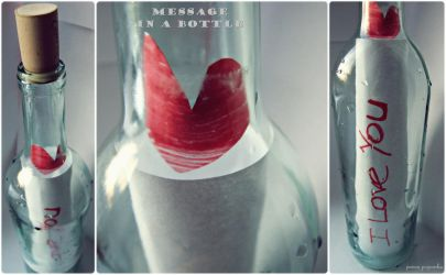 Message in a bottle : LOVE by panna-poziomka