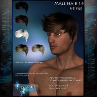 Male Hair 14 Painted Instant hair PSD add on stock by MakeMeMagical