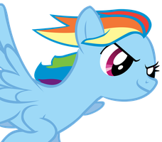 Flying Rainbow Dash by YourFaithfulStudent