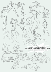 Pose Collection 002 by what-i-do-is-secret