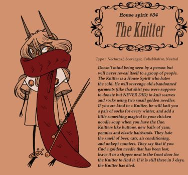 House Spirit - The Knitter by secondlina