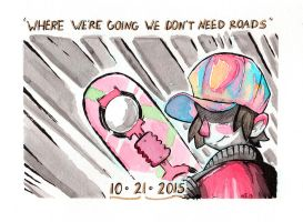 Inktober 2015 We Don't Need Roads by Natesquatch