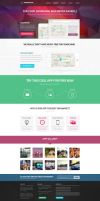 Landing page for mobile app web presentation by tempeescom