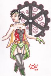 Steampunk gender bent Robin by Loganleopard
