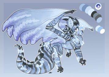 Blue Geode Dragon Adopt [CLOSED] by Jomadis