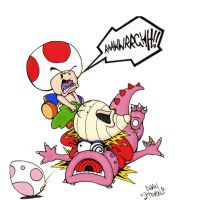 Toad's Fury on Birdo by SuperDeano1