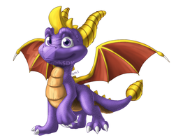 Classic Spyro in Skylanders - Reimagined Skyro by FaithSDK