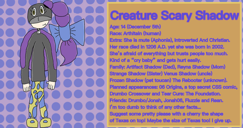 Creature scary shadow (OC/Avatar) 3 by DrumboProductions