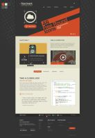 Retro PSD Template - Fascinant by the-webdesign