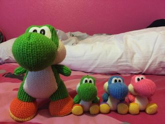 My Yoshi's Wooly World Amiibos by QueenSilvia95
