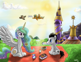 Celestia and Frolda on the picnic - request by Oggynka