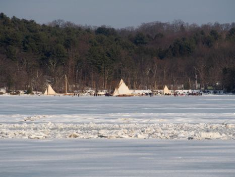 Ice Yachts on the Hudson by TheMightyQuinn