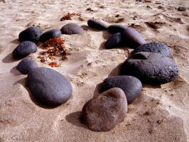 Beach stones by Evicas