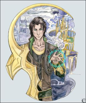 Loki's magic by canaury