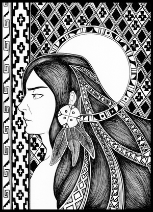 Hombre Mapuche by lucressia