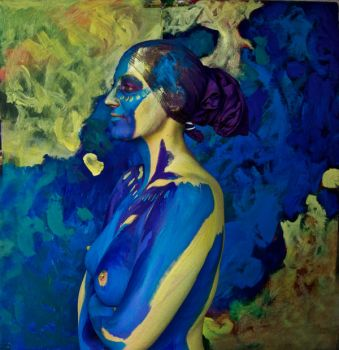 Bodypainting - yellow blue by mihepu