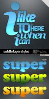 Subtle Photoshop Layer Styles by GoldenBugSpread