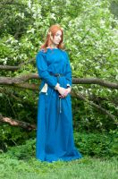 Medieval Fantasy Dress by ann-emerald-stock
