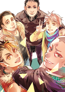HAIKYUU! senpais noticing the camera! by BLACKlbutterfly