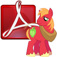 Adobe reader icon - big mac by spikeslashrarity