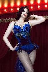 Burlesque costume Blue bird by ZyunkaMukhina
