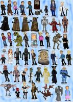 51 Doctor Who Characters by mungoman48