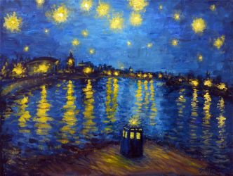 Starry Night Over Cardiff Bay by kuiwi