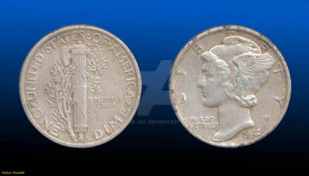 Coin 1 Dime 1942 - (United States of America) by Book-Art