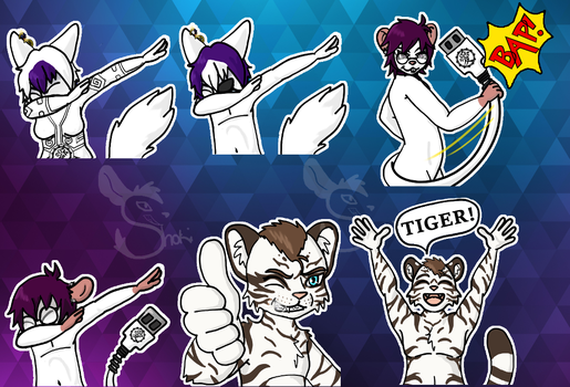Sticker Pack: Caigan and Co. by ShokiDeNai