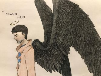 Castiel the fallen angel by RosarianArt