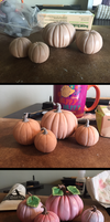 Pink Pumpkins Cake Topper by DaffoDille