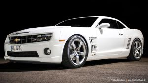 White Camaro SS by AmericanMuscle