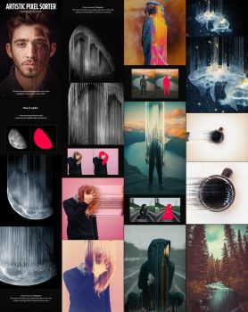 Artistic Pixel Sorter - Photoshop Actions by GraphicAssets