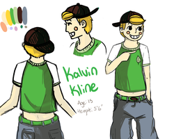 Kalvin - Ref Sheet by GiantTomatoes