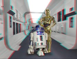 The Droids in the Hall by MVRamsey